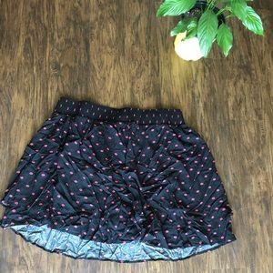 Lipstick Print Mini Skirt